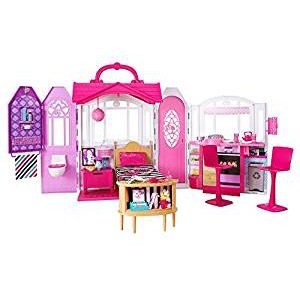 Barbie – Glam Casa De Vacaciones Portátil, Multicolor, Miscelanea (CHF54)