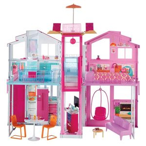 Barbie DLY32 ESTATE Three-Story Town House Colourful And Bright Doll House Comes With Furniture And Accessories, Playset…