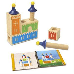 Smart Games – Castle Logix, Juego De Ingenio De Madera Con Retos Progresivos (SG010)