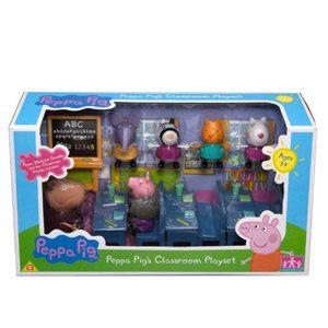 Officel Peppa Pig Playset De La Salle De Classe – Madame La Gazelle & Peppa Pig Personnalités Dont Peppa Pig & Amis