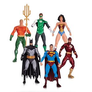 DC Comics Liga De La Justicia Alex Ross Pack 6 Minifiguras: Superman, Batman, La Mujer Maravilla, Linterna Verde, Aquaman Y El Flash.