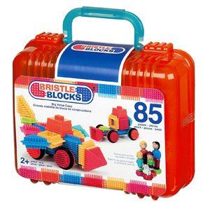 Bristle Blocks Big Value – Maletín De Juego De Construcción Con Muñecos Y Animales (85 Piezas)