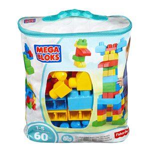 Mega Brands – First Builders De 60 Piezas Con Bolsa Ecológica, Bolsa Trendy (Mattel CYP66)
