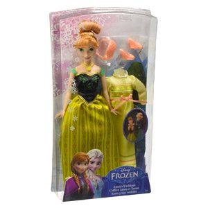 Disney Frozen – Muñeca, Anna Y Sus Vestidos (Mattel CMM30)