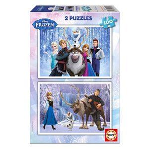 Educa- Frozen Disney Puzzles Infantiles, 2×100 Piezas, Multicolor (15767)