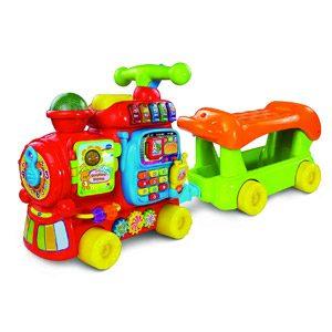 VTech – Maxi Tren 5 En 1, Juguete Evolutivo Con Cinco Modos De Juego, Panel De Actividades, Apila Bloques, Andador, Correpasillos Y Carrito, Versión Española (80-181922)»