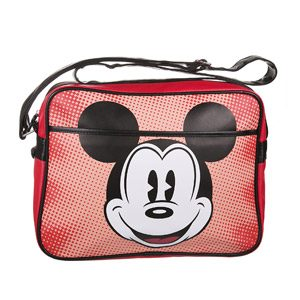 Vintage Retro Mickey Mouse Red Bag Shoulder School Pop Art Sport Disney Official