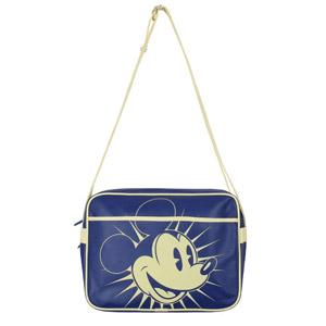 Mickey Mouse – Bolso Bandolera Del Ratón Mickey – Cartera Retro – Bolsa Con Correa – Azul