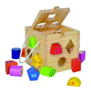 Eichhorn-100002092 Cubo Encajables, Multicolor (100002092) , Color/modelo Surtido