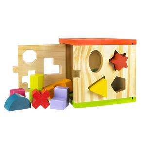 ColorBaby – Cubo Actividades, De Madera, 14 Piezas (42139)