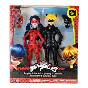 Prodigiosa: Las Aventuras De Ladybug – Pack 2 Muñecas Ladybug Y Cat Noir (Bandai 39810)
