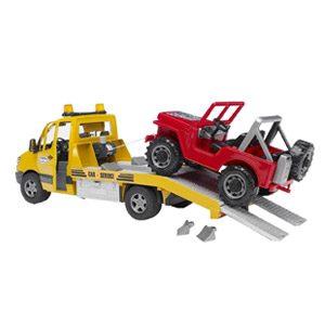 Bruder-02535 Jeep Mercedes Benz, Sprinter Grúa Con Luces Y Sonido (02535) , Color/modelo Surtido