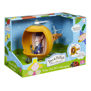 Ben And Holly Wise Old Elf's Helicopter Figure By Ben & Holly