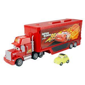 Cars Camión Mack Gran Viaje, Transportador De Coches De Juguete (Mattel DXY87)
