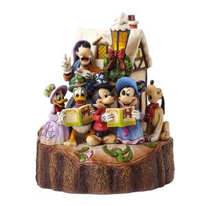 Figurine De Collection Mickey Chants De Noël Lumineuse