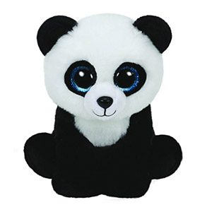 Ty – Classics Ming, Panda De Peluche, 23 Cm, Color Negro (90223TY)