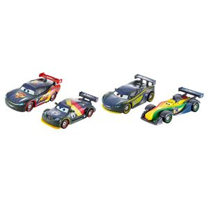 Cars 2 – Pack 4 Coches, Carbon Racers (Mattel DHM95)