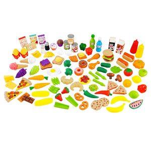 KidKraft- Tasty Treats Set De Alimentos Para Juegos De Simulación, 115 Piezas Y Accesorios Para La Cocina De Juguete…