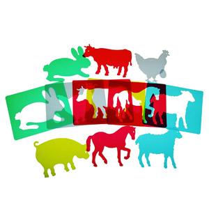 Henbea- Plantillas De Aprendizaje De Animales De Granja, Trasl&uacutecidos (916)