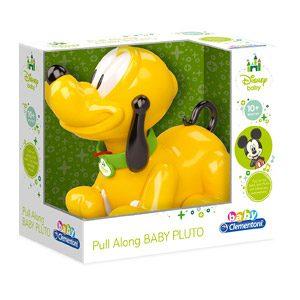 Baby Clementoni-14981 Mickey Mouse Pluto Arrastre, Multicolor (149810)