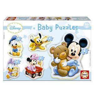 Educa – Baby Mickey Mouse 5 Puzzles Orogresivos De 3 A 5 Piezas, Multicolor (13813)