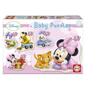 Educa – Baby Minnie Mouse 5 Puzzles Orogresivos De 3 A 5 Piezas, Multicolor (15612)