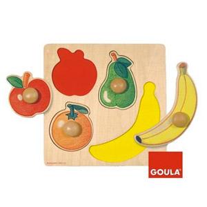 Goula – Puzzle De Madera, Diseño Frutas (Diset 54000)