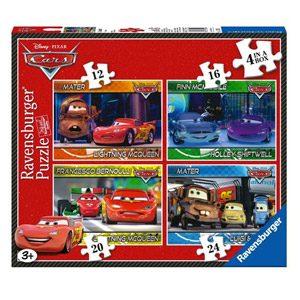 Linenideas Ravensburger 12 16 20 24 Disney Cars – Puzzles (4 Unidades, 12, 16, 20 Y 24 Piezas)