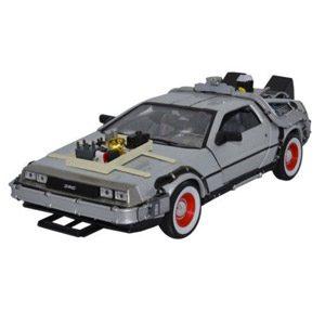 Welly 22444W – Regreso Al Futuro Parte III, DeLorean Diecast Collector's Model Escala 1:24