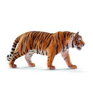 Schleich-14729 Figura De Tigre, Colección Wild Life, Negro, Naranja, Color Blanco, 13 Cm (14729)