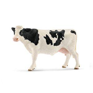 Schleich – Figura Vaca Frisona De Manchas Negras, 8,2 Cm.