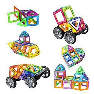 Amztronics Bloques De Construcción Magnéticos 39 Piezas Imantados Juegos De Construcción Juguetes Creativos Y Educativos, Mejor Regalo Para Niños