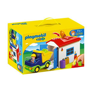Playmobil – 1.2.3 Camión Con Garaje (6759)