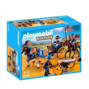 Playmobil – Soldados Americanos Con Cañón, Figuras De Juguete (5249)