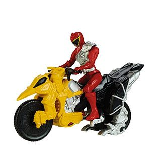 Power Rangers Dino Charge – Moto De Transformacion, Color Rojo (Bandai 42071)