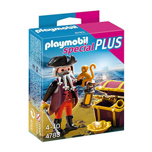 Playmobil Especiales Plus – Pirata Con Cofre Del Tesoro, Playset (4783)