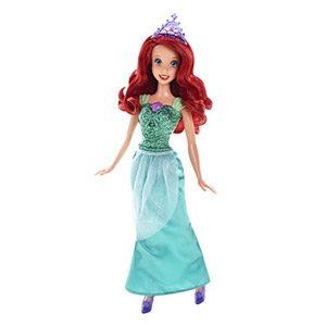 Disney Princesas Muñeca, Princesa Purpurina Ariel (Mattel CFB74)