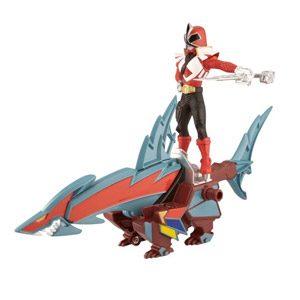Power Rangers Samurai – Zord Acción: Tiburon Ranger, Color Rojo (Bandai 31770)