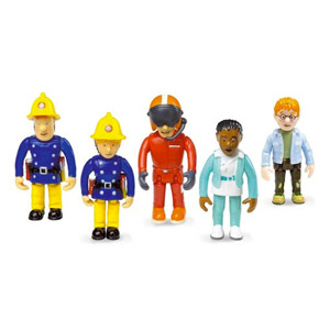 Fireman Sam Conjunto De 5 Figuras Articuladas