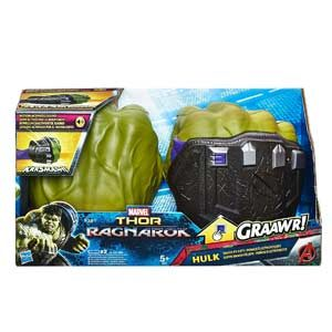 Marvel Avengers Puños Electrónicos De Hulk, Multicolor, Talla única (Hasbro B9974EU4)