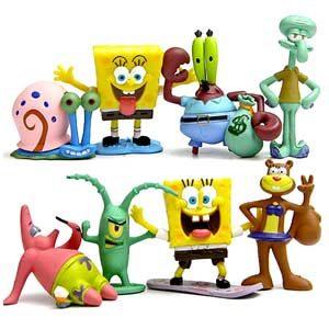 ONOGAL Bob Esponja Colección De 8 Personajes Figuras Spongebob Calamardo Patricio Señor Cangrejo Arenita Plancton Y Gari…