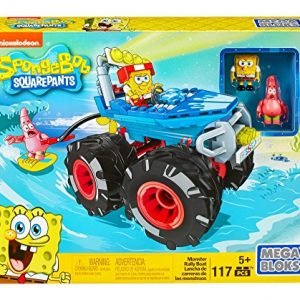 Mattel Mega Bloks DKT71 – Bob Esponja Monster Rally Barco, Colorido