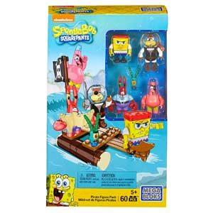 Mattel Mega Bloks CNH56 – Bob Esponja Pirata Cifras Juguetes De Envases, Construcción Y Edificación
