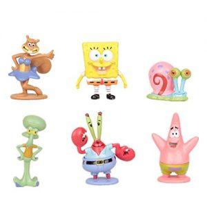 SpongeBob – Bob Esponja Y Sus Amigos – Set 6 Figuras-con Bolsa De Plastica- 3-6cm-pequeña