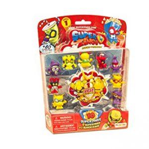 Superzings- Rivals Of Kaboom Blíster Con 10 Figuras, Color Azul (Magic Box Int Toys SZ1P1300) , Color/modelo Surtido